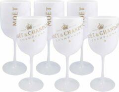 Moet & Chandon Moët & Chandon Ice - 6 stuks Champagne Glazen (Wit) - Acryl
