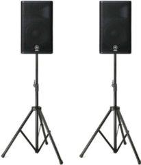 Yamaha DXR12Lautsprecher-Set inkl. Ständer & XLR-Kabel