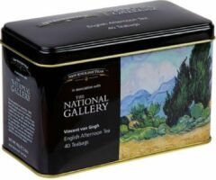 New English Teas The National Gallery v. Gogh A Weatfield, With Cypresses Tin 40 Teabags English Afternoon