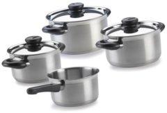 Zilveren BK Karaat Plus Pannenset - Set van 4