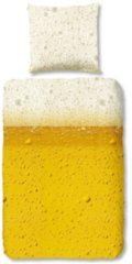 Renforcé Bettwäsche Bier Traumschlaf gelb