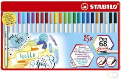 Brushstift STABILO 568/25-321 blik à 25 kleuren