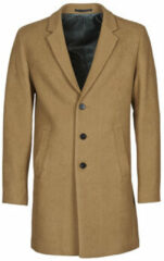 JACK & JONES Wollen Lange Jas Heren Beige