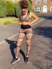 Bruine Pfeka Africa inspired Yoga Pants/leggings
