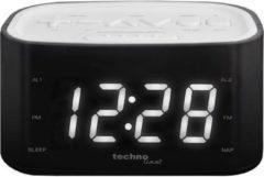 TECHNOLINE WT 465 Wekkerradio met grote WITTE cijfers en duidelijk VOELBARE knoppen - Slechtziend - wit