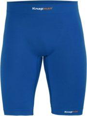 Blauwe Knap'man Knapman Zoned 45% Compressie Short Heren Sportbroek - Maat XL - Mannen - blauw