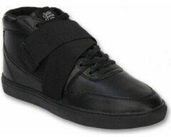 Zwarte Hoge Sneakers Sixth June Heren Schoenen - Heren Sneaker Nation Strap