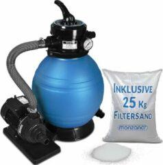 Monzana Zandfiltersysteem 10.200 l/uur 25 l tank + 25 kg Filterglas - Zwembad