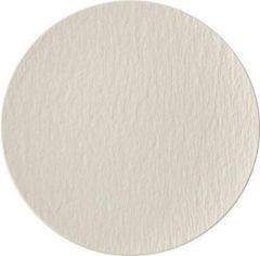 Gebroken-witte Villeroy & Boch Manufacture Rock Blanc bord 25 cm