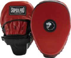 Super Pro Combat Gear Super Pro Lederen Flat Hook and Jab Pad Zwart/Rood