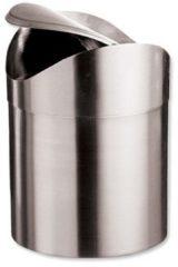 Zilveren Excellent Houseware - RVS Tafel Afvalbakje 1.5 Liter