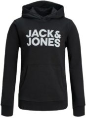 Zwarte JACK & JONES JUNIOR JACK&JONES JUNIOR Jongens Sweater - Black - Maat 140