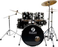 Fazley FDK-100 Spirit Plus Black drumstel inclusief bekkens