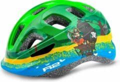Groene R2 Bunny Kinderen Fietshelm Piraten XS 48 - 52cm