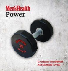 Zwarte Men's Health Urethane Dumbbell 20 kg - Crossfit - Oefeningen - Fitness gemakkelijk thuis - Fitnessaccessoire