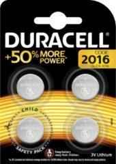 Duracell Specialty 2016 Lithium-knoopcelbatterij 3V, verpakking van 4 stuks (DL2016/CR2016)