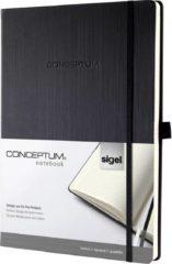 Sigel Notitieboek CONCEPTUM® CO115 Geruit Zwart Aantal paginas: 97 DIN A4+