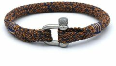 MR. JACOB Alex oranje-blauwe touw armband