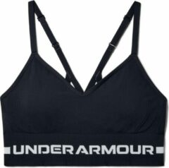 Grijze Under Armour - UA Seamless Low Long Bra - Black / / Halo Gray - Vrouwen - Maat S