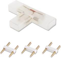 Witte Aigostar 2-pins waterdichte T-connector per 10 Stuks voor 60 LEDs