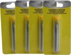 Merkloos / Sans marque 4x Soldeertin voor soldeerbout 15 gram - 3 meter - 1 mm dik - solderen elektronica / soldeeraccessoires