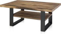 Henke Möbel Couchtisch Eiche Altholz Kufen schwarz mit Boden