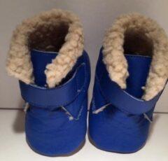 Drukkies Warme leren babyschoentjes blauw maat L