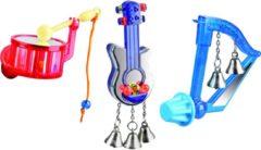 Flamingo Vogelspeelgoed Muziek - Vogelspeelgoed - 13x4x4 cm Assorti