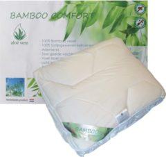Gebroken-witte ISleep Bamboo DeLuxe Enkel Dekbed - 100% Bamboe - Tweepersoons - 200x220 cm