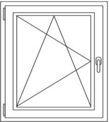 Witteburg Kunststof draai / kiep raam 60-70 x 60-70 cm