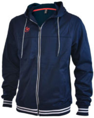 Marineblauwe Brabo Tech Hooded Trainingsjas - Maat S - Mannen - blauw