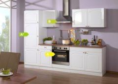 HELD Möbel Küchenzeile Rom 270 cm Hochglanz weiß - inkl. E-Geräte
