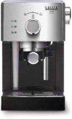 Zilveren Gaggia viva Deluxe Gaggia RI8435/11 Vrijstaand Handmatig Handmatige koffiezetter met druppelfilter 1.25l 2kopjes Zwart, Zilver koffiezetapparaat