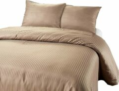 Sleep Med SleepMed dekbedovertrek Dallas taupe 200x200/220 cm