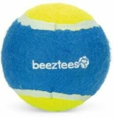 Beeztees fetch tennis ball - hondenspeelgoed - blauw/geel - 10 cm