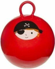 Merkloos / Sans marque Skippybal rood met piraat 45 cm - Skippyballen buitenspeelgoed voor kinderen