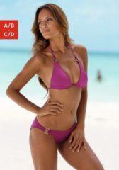 Rosa Chiemsee Triangel-Bikini mit Zierringen an Cup und Hose