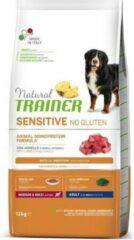 12 kg Natural trainer sensitive adult medium lam glutenvrij hondenvoer