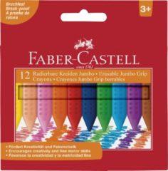 Waskrijt Faber Castell Jumbo GRIP doos 12 stuks