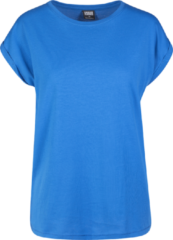 Urban Classics Ladies Extended Shoulder Tee Maglia donna blu