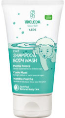 Weleda natuurcosmetica Kids 2 in 1 shower & shampoo coole munt
