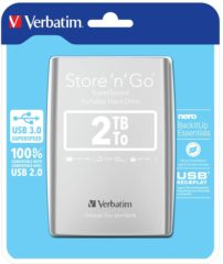 Verbatim Store 'n' Go 2 TB Externe harde schijf 6.35 cm (2.5 inch) USB 3.0 Zilver