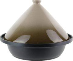 Taupe Cuisy Tajine Ø 30 cm geschikt voor alle kookplaten, inclusief inductie.