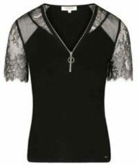 Zwarte T-shirt Korte Mouw Morgan DAYANA