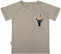 Beige Little Indians Shirt Party Animal - Cement