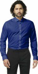 Marineblauwe OppoSuits Navy Royale - Mannen Kostuum - Blauw - Feest - Maat 43/44