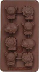 Sif Chocoflex Chocoladevorm - Siliconen - Dieren - Bruin - Set-8