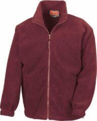Bordeauxrode RESULT Fleece vest R036X BordeauxL