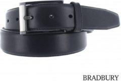 Bradbury - Stijlvolle lederen herenriem - Zwart - 85 cm