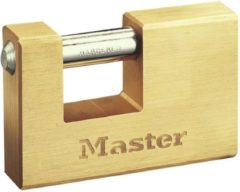 Masterlock 85mm wide x 18mm thick - 30mm hardened steel shackle, 12mm diam. - hor